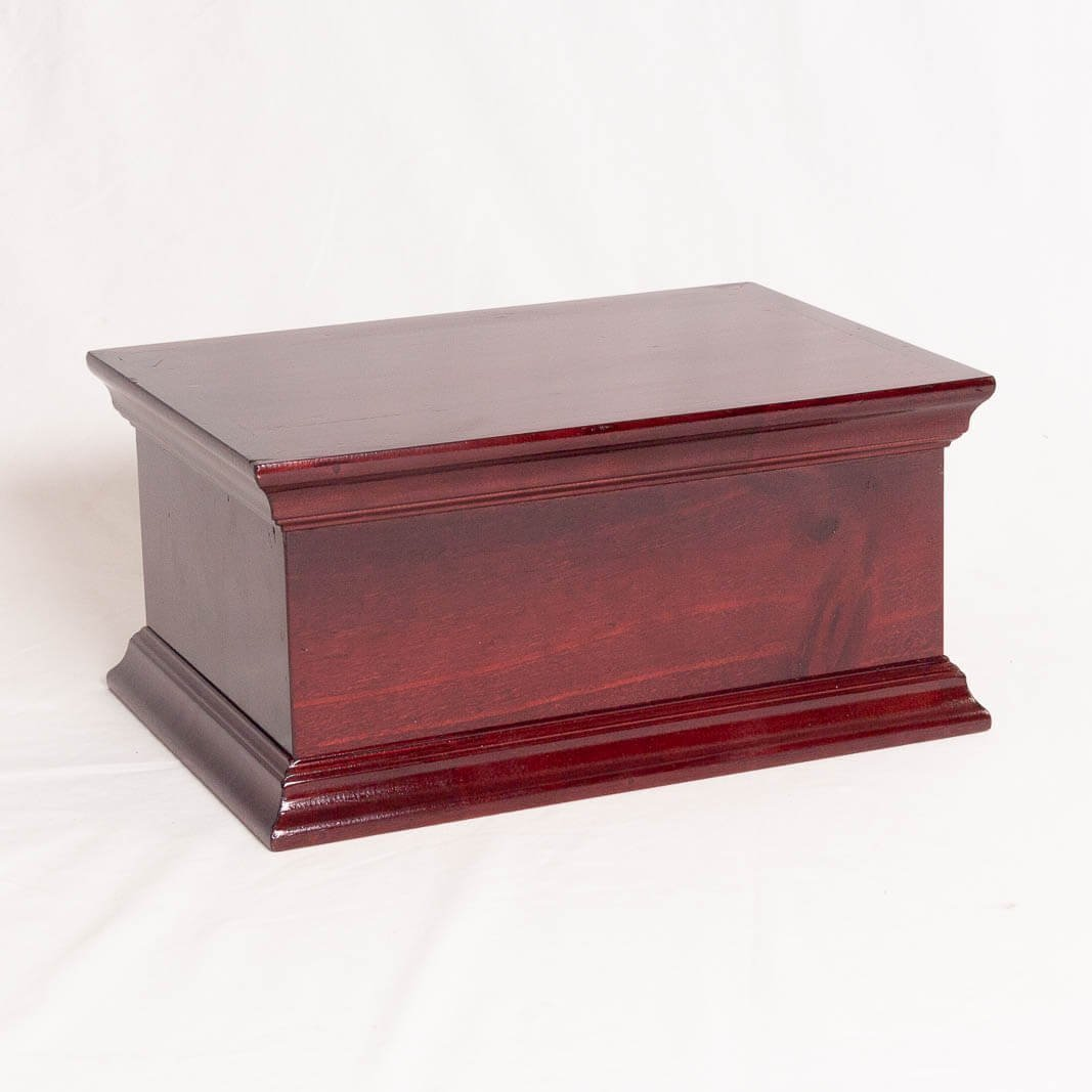 Cremation Urn - Wooden - Decorative Colonial Moulding - Horizontal Orientation