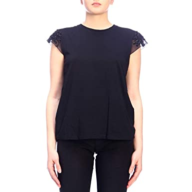 Donna ModTt2150Vêtements Et Twinset Shirt T Nero OXZuPkiwT