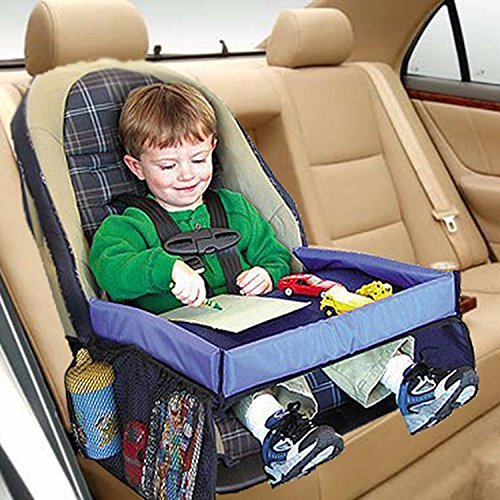 PAPRING Car Seat Tray Waterproof Table Car Seat Tray Storage Kids Toys Infant Stroller Holder for Children