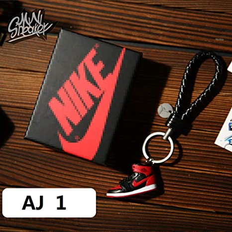 Fashion Mini Sneaker 3D Keychain Figure AJ1-20【1:6】 with Box for Christmas Gift 1 Pieces