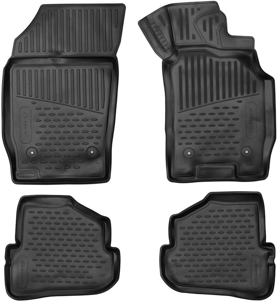 2010-2018 hb Black Element EXP.ELEMENT3D02384210k Tailored Custom Fit 3D Rubber Floor Mats for Audi A1
