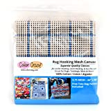 Rug Hooking Mesh Canvas - 3.75 Mesh (44'' x 60'') with Free Pattern