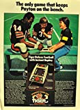 Vintage Tiger Electronics Hand Held Football Magazine Ad-Walter Payton