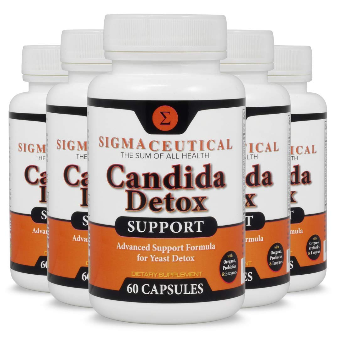 5 Pack of Candida Cleanse - Yeast Infection Treatment - Oral Thrush Treatment for Adults - Non-GMO Oral Thrush Medicine and Thrush Mouth Treatment - Yeast Cleanse - 60 Capsules by Sigmaceutical