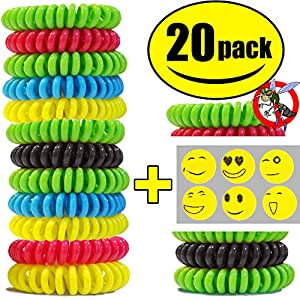 STURME All Natural Mosquito Repellent Bracelets Best Bug Insect Wrist Band Travel Personal Protection Non Toxic No Deet Safe Pest Control For Kids Adults Outdoor Camping Traveling Waterproof