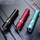 KAMOLTECH Klarus Mi7 CREE XP-L HI V3 700LM Mini-Might AA EDC LED Flashlight (Color Red)