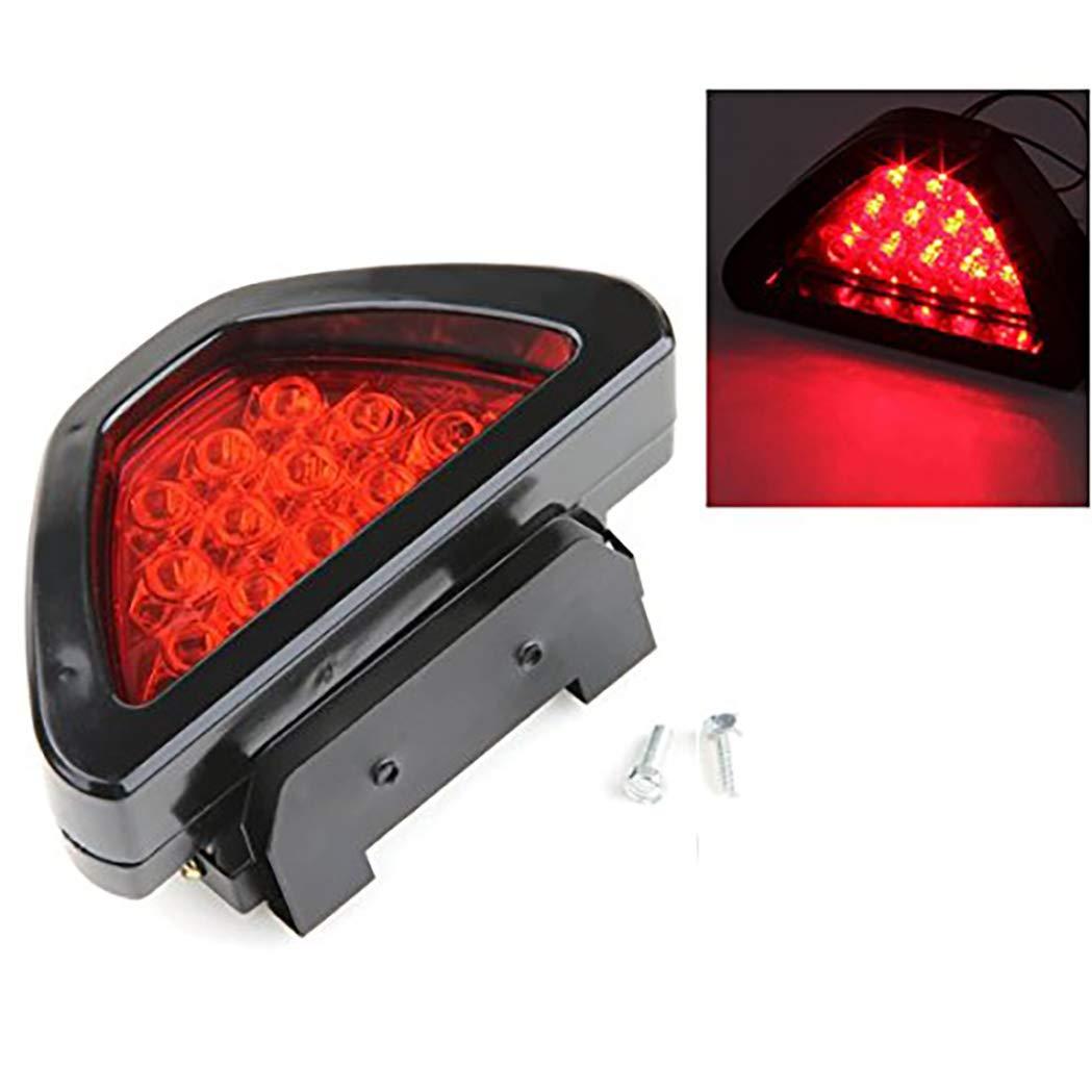 Terza luce lampada flash freno auto 12 LED 12 V stile F1 universale