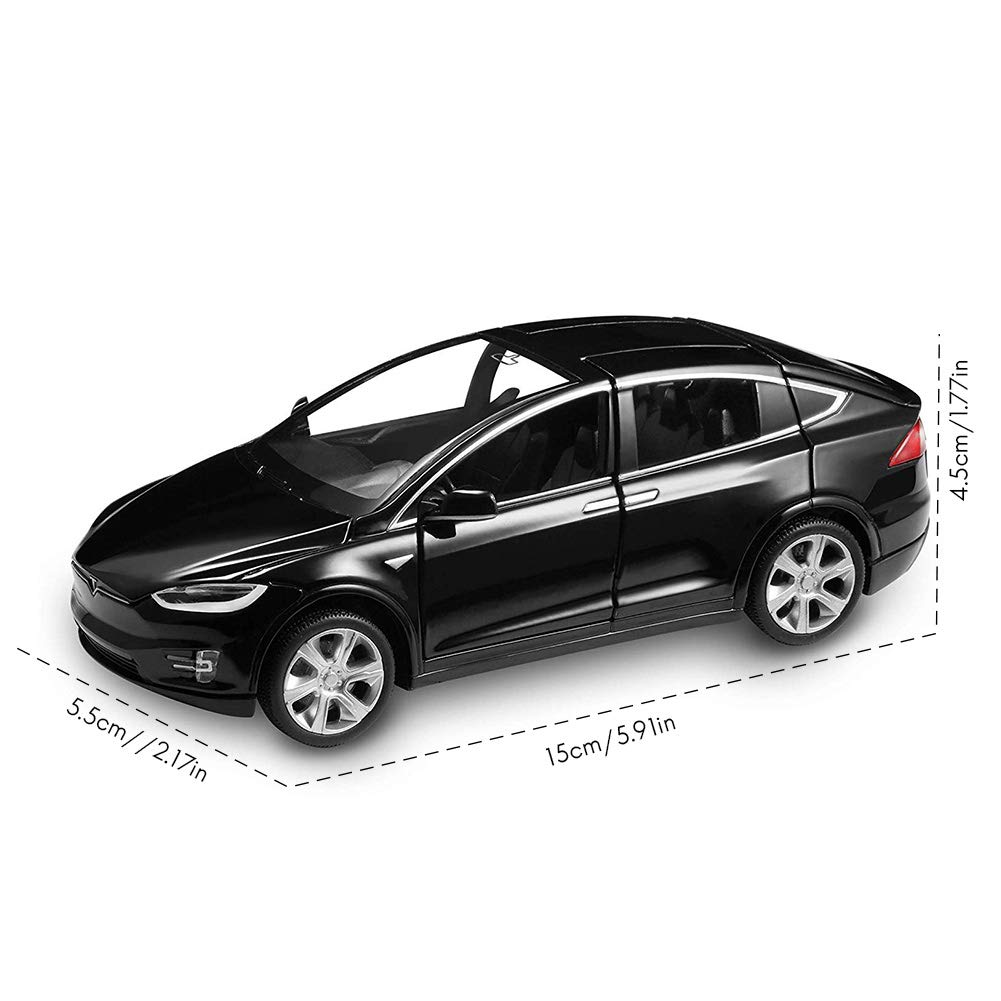 Rivadal Model Car Alloy Pull Back Toy with Sound and Light Scale 1:32 for Kid
