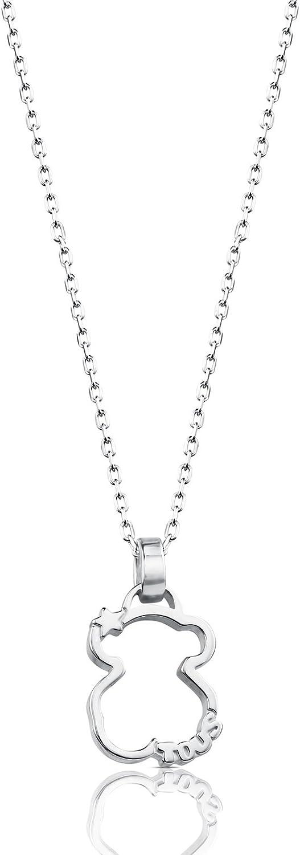 Collar TOUS Silueta de plata de primera ley con silueta de oso, Largo: 45 cm, Colgante 1,6 cm