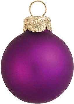 Amazon Com 28ct Matte Soft Grape Purple Glass Ball Christmas Ornaments 2 50mm Furniture Decor
