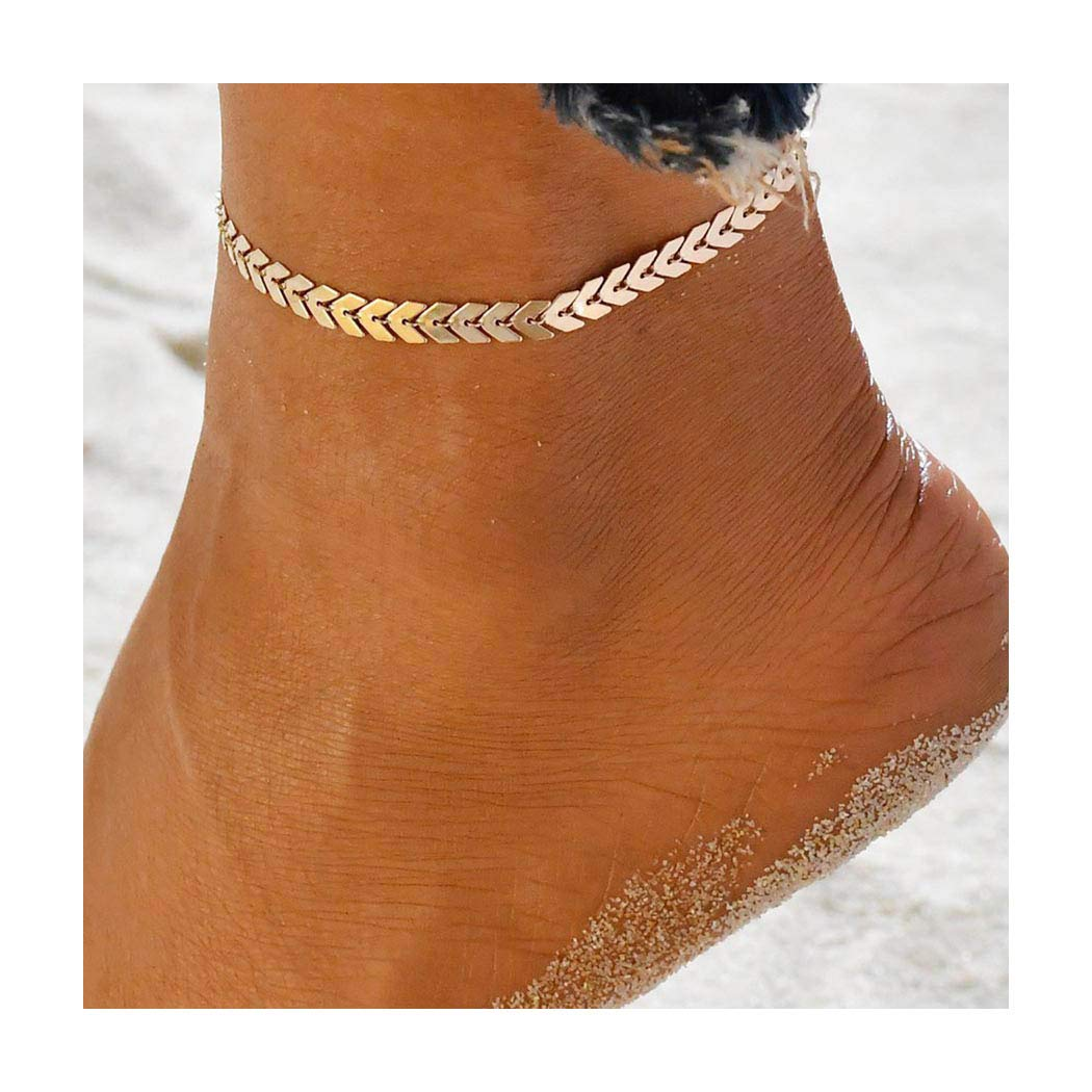 Tgirls Fashion Beach Arrow Chain Ankle Bracelet Chevron Foot Anklets Jewelry for Women and Girls