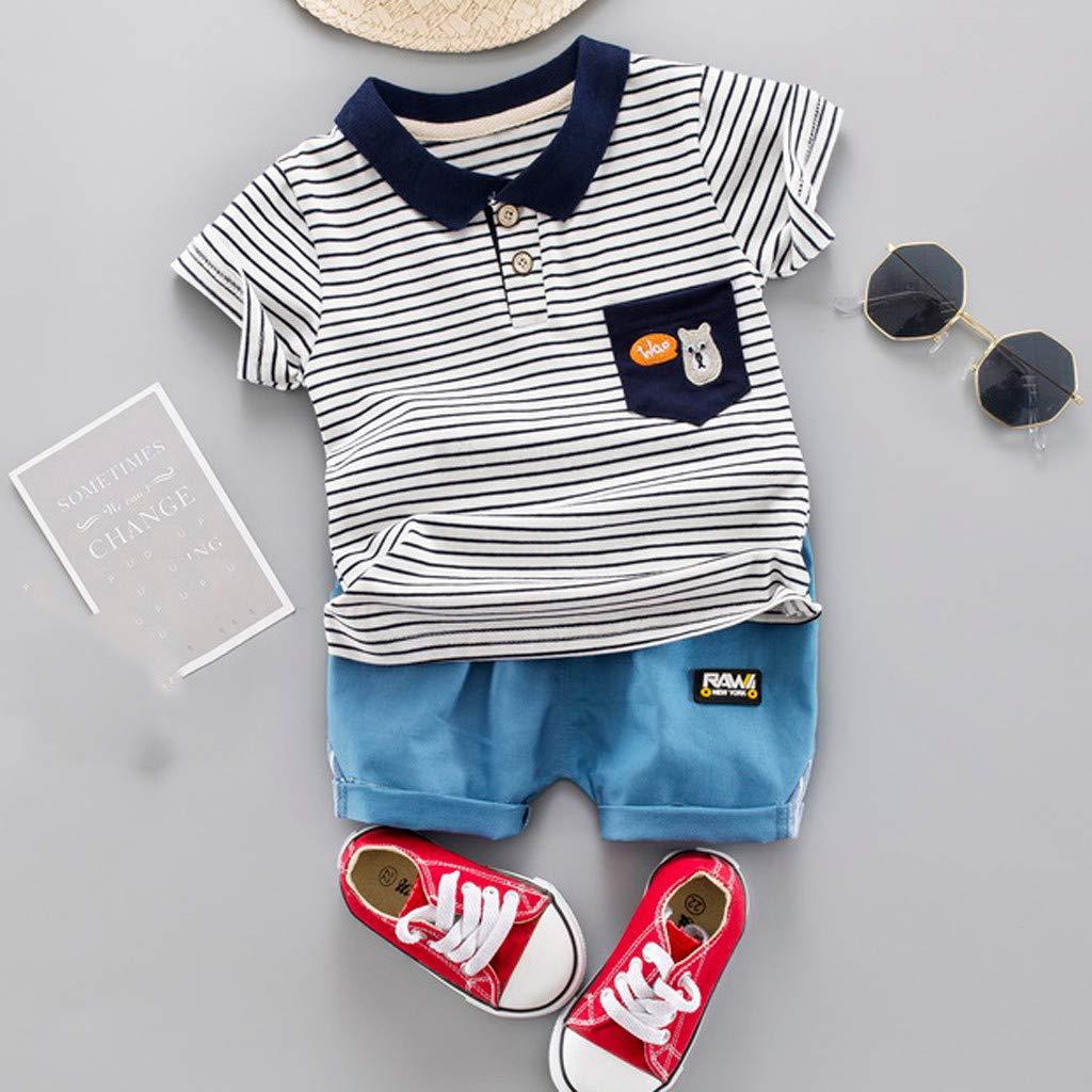 Amazon.com: Iuhan Baby Boy Gentleman Outfit Set Kid Baby Boy Stripe ...