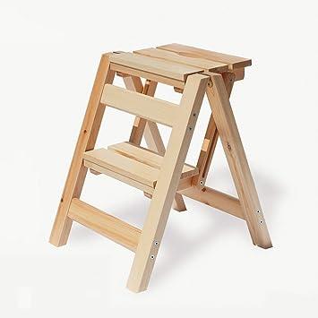 AINIYF Taburetes de madera Inicio Escalera Taburete Silla de madera maciza Taburetes plegables Bancos Sillas plegables Hogares de ocio: Amazon.es: Bricolaje y herramientas