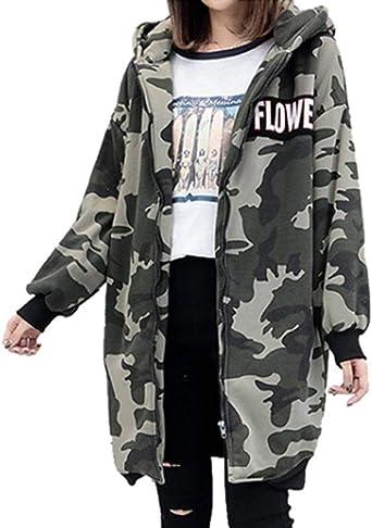 chaqueta camuflaje mujer tallas grandes