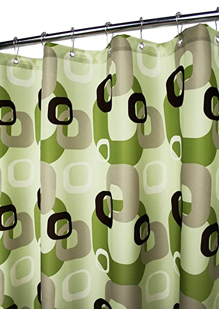 Park B Smith Geo Squares Watershed Shower Curtain Meadowood Field