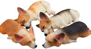 3D Funny Corgi Magnet Fridge Stickers, 4PCS Cute Animals Sleeping Corgi Magnetic Refrigerator Decoration Ornaments Toys Strong Fridge Magnets