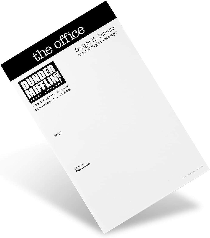 "The Office ""Dear Future Dwight"" Notepad - Novelty 5x8-Inch, 50-Sheet Memopad - Looks Like Dunder Mifflin Paper Company's Dwight K. Schrute Blank Memos, Funny Tablet For Work, Home, School"