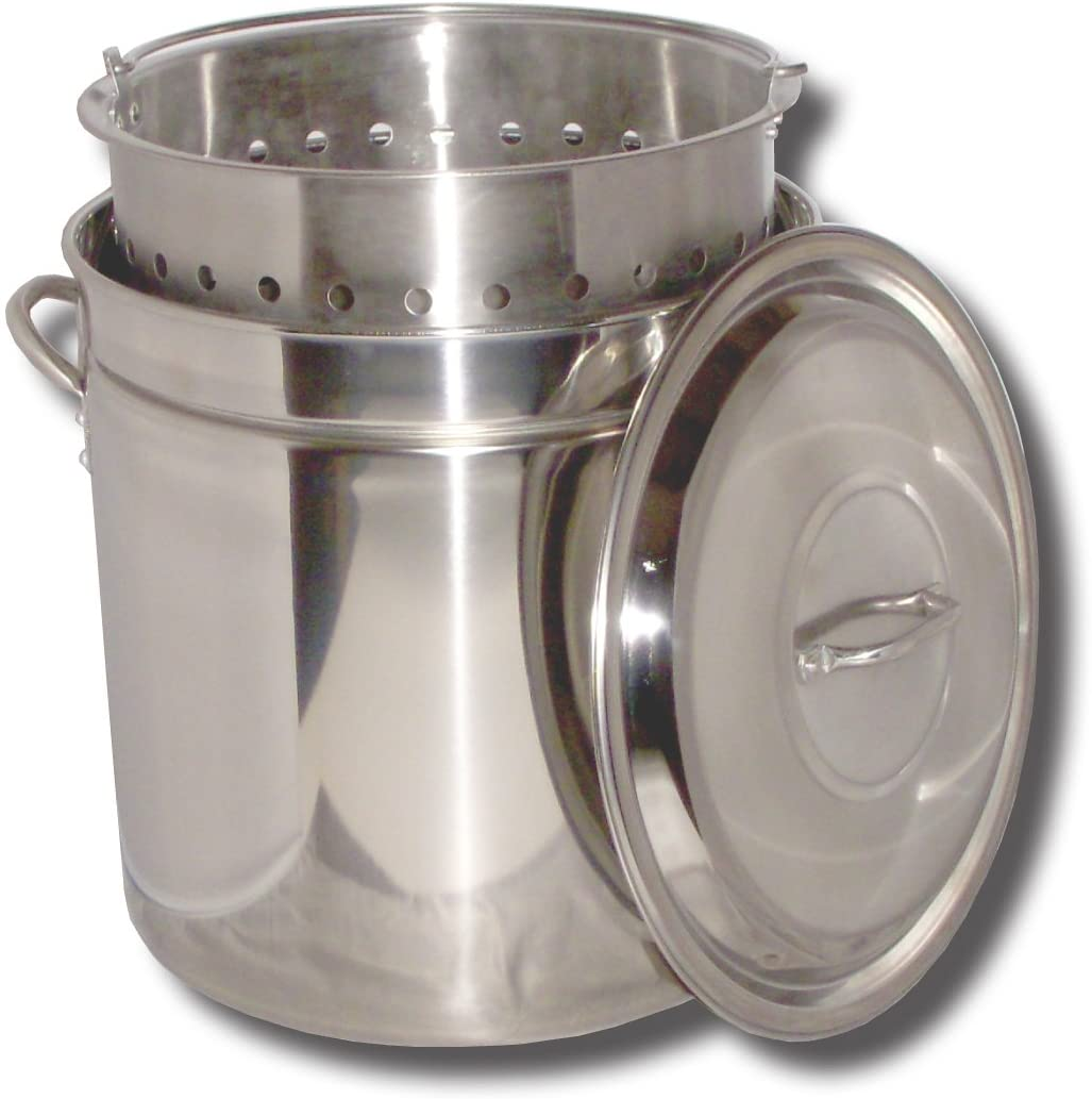 King Kooker KK62SR Ridged Stainless Steel Pot, 62-Quart