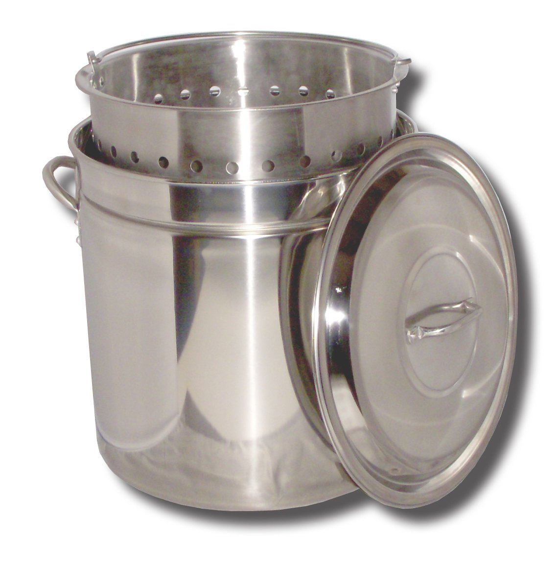 King Kooker KK24SR Ridged Stainless Steel Pot, 24-Quart