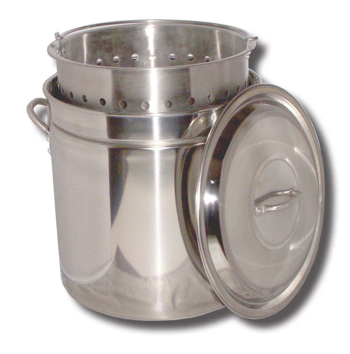 King Kooker KK62SR Ridged Stainless Steel Pot, 62-Quart