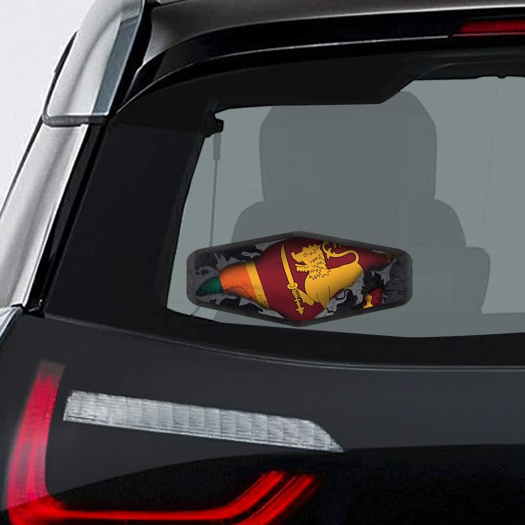 Amazon com makoroni sri lanka flag world country flag decal car laptop wall sticker 3x8small or 4x10large automotive