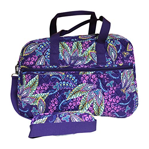 (Vera Bradley Medium Traveler Bag, Batik Leaves)
