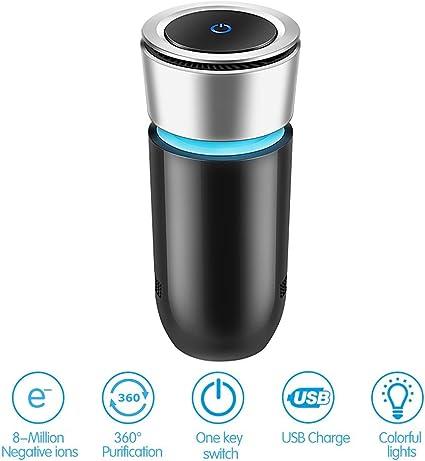 Amazon.es: T-Hermes Auto purificador de aire USB purificador de ...