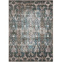 Nourison Karma KRM04 Blue Rustic Vintage Area Rug 2 Feet 2 Inches 7 Feet 6 Inches, 22 x 76