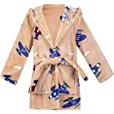 Kids Little Boys Girls Cartoon Hooded Bathrobe Toddler Robe Pajamas Sleepwear