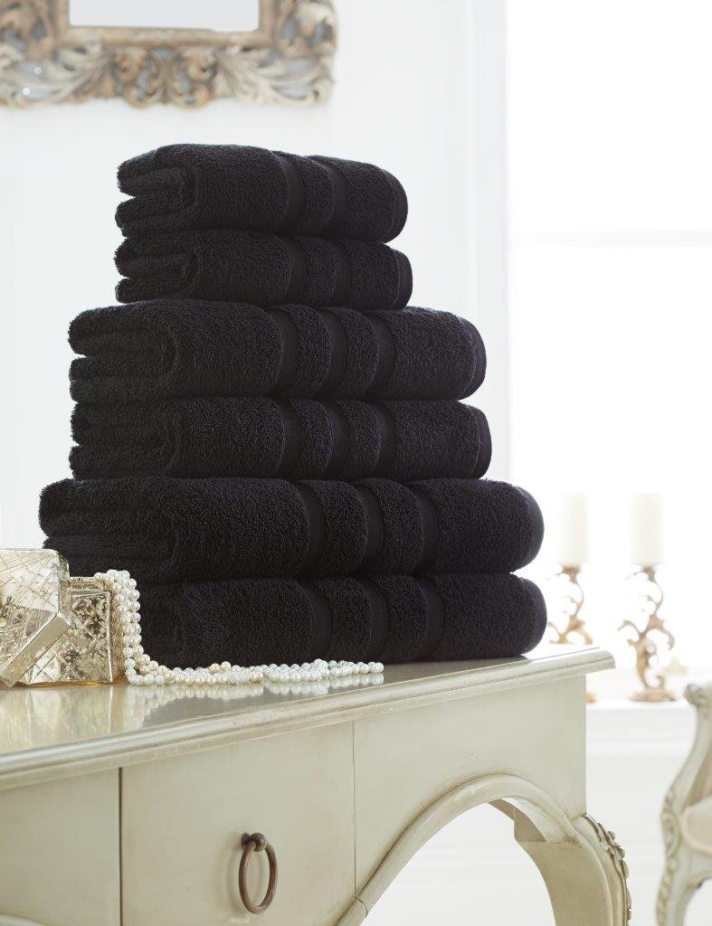 Dreams Gate Premium Handtuch, 100% ägyptische Baumwolle, Baumwolle, Baumwolle, 600 g m², weich und saugfähig, Handtuch, Badetuch-Set, Schwarz, 12er-Pack B07JN9KDGX Sets d58805