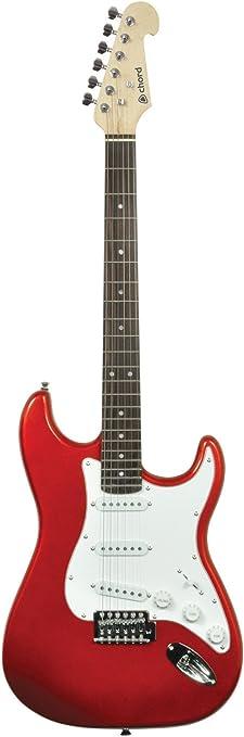 Chord Cal63 Guitar Metallic Red: Amazon.es: Instrumentos musicales
