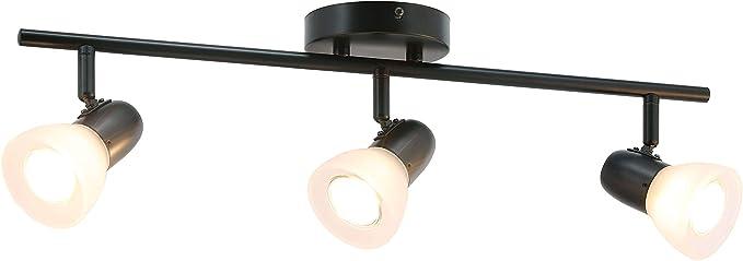 Amazon Com Xinbei Lighting Track Light 3 Light Kitchen Ceiling Light With Glass Modern Black Track Bar Lighting Xb Tr1237 3 Mb Home Improvement