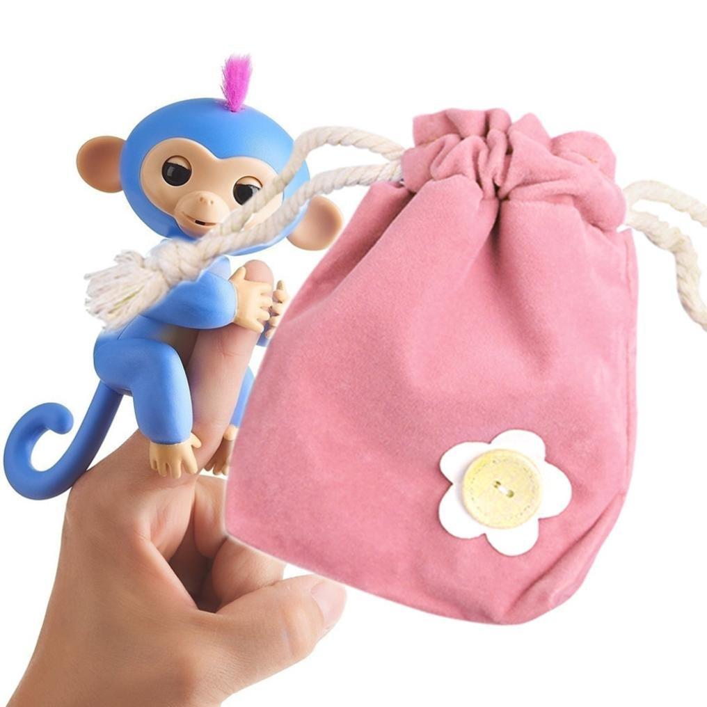 Challen Dolls Portable Kids Play Storage Bag Toys Rug Box For Finger Monkey Little Baby Monkey (Hot Pink)