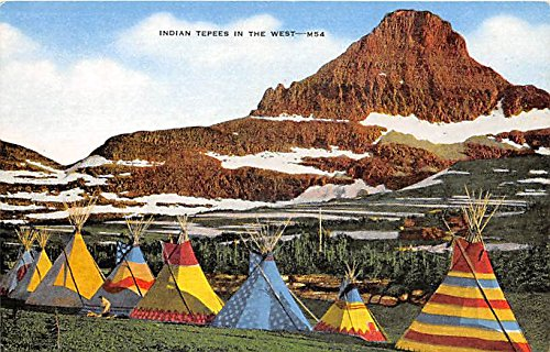 Teepee Postcard (Inidan Teepees in the West Indian Postcard)