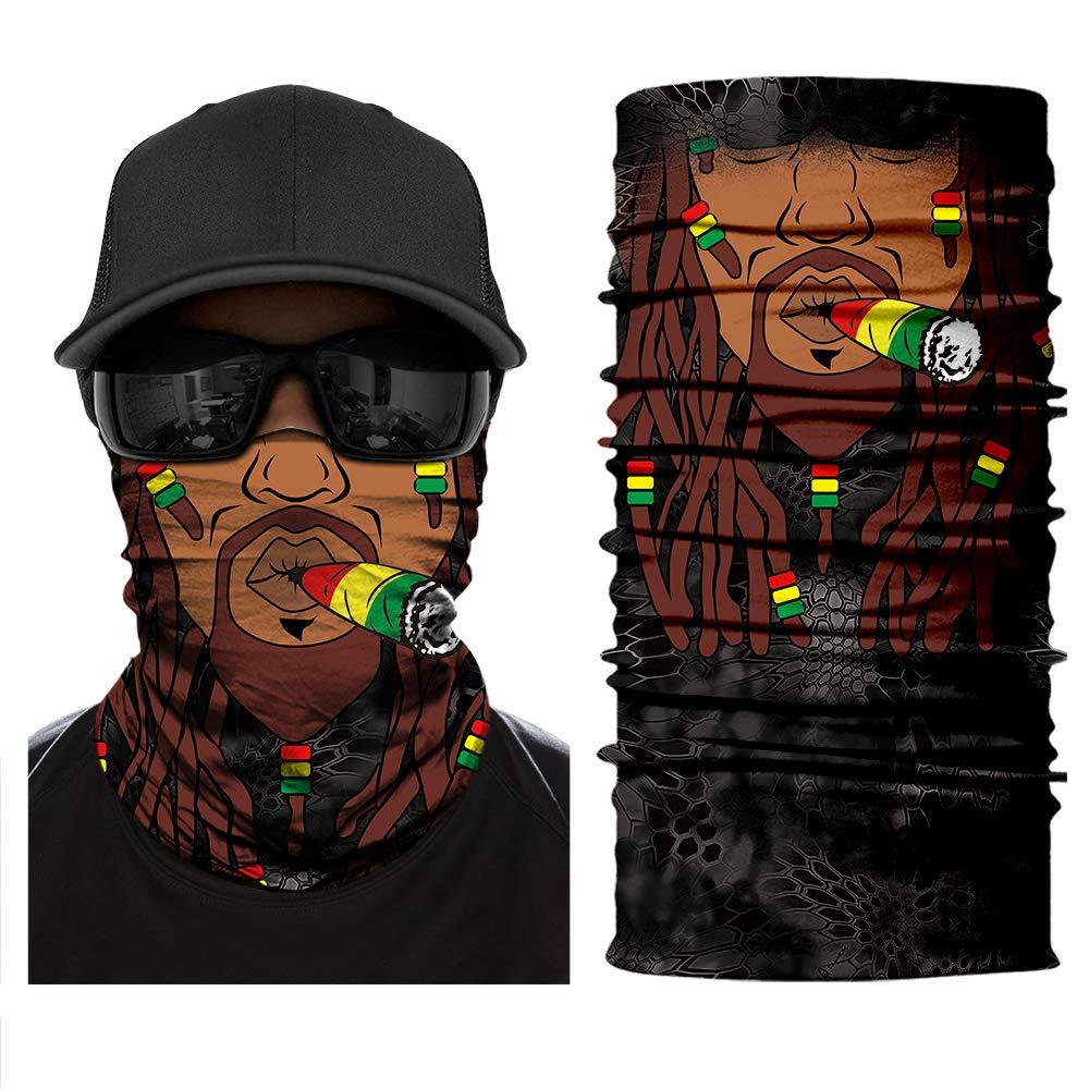 Jutoe 3Dフェイスマスク ネックゲートル マジックヘッドバンド ダスト&サンマスク アウトドアUV耐性スポーツヘッドウェア 自転車乗馬マスク 伸縮性シームレスバンダナスカーフ 男女兼用   B07P4CXWSF