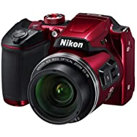 Nikon Coolpix B500 Camera (Red) with 8GB SD Card, Camera Bag and HDMI Cable