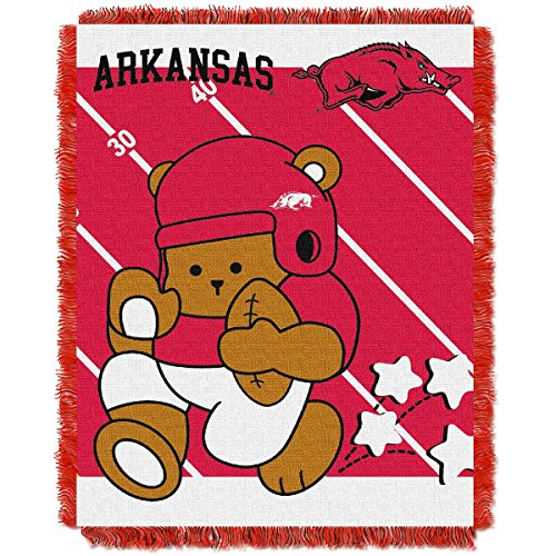 The Northwest Company Arkansas Razorbacks Fullback Baby Triple Woven Jacquard Throw