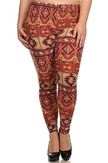 b0e3ac54c32 Elegant4U Women s Printed Beautiful Navajo Warrior Plus Size Leggings