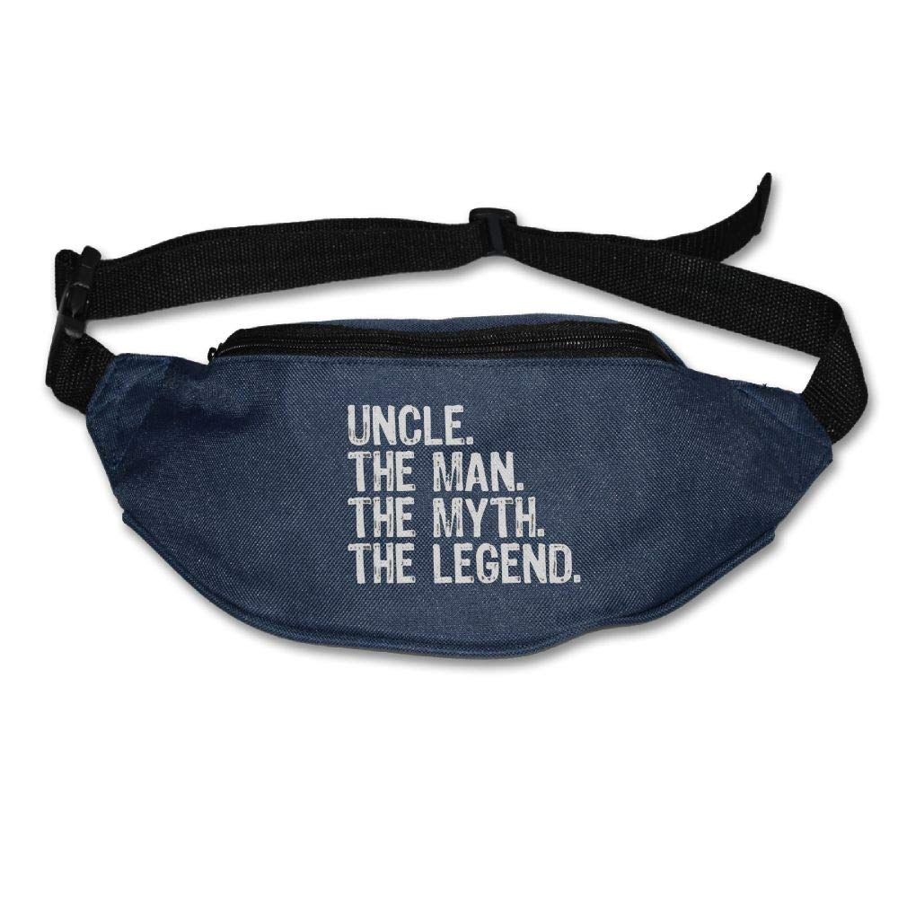 Ada Kitto Uncle The Man The Myth The Legend Mens&Womens Lightweight Waist Pack For Running And Cycling Navy One Size