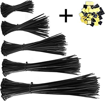 """8/"""" 12/"""" 14/"""" Heavy Duty Network Cable Cord Wire Ties Strap Zip Nylon Self-Locking"""