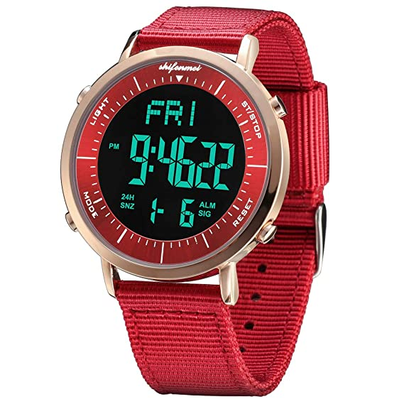 Amazon.com: Relojes digitales, shifenmei S1144 Digital Reloj ...