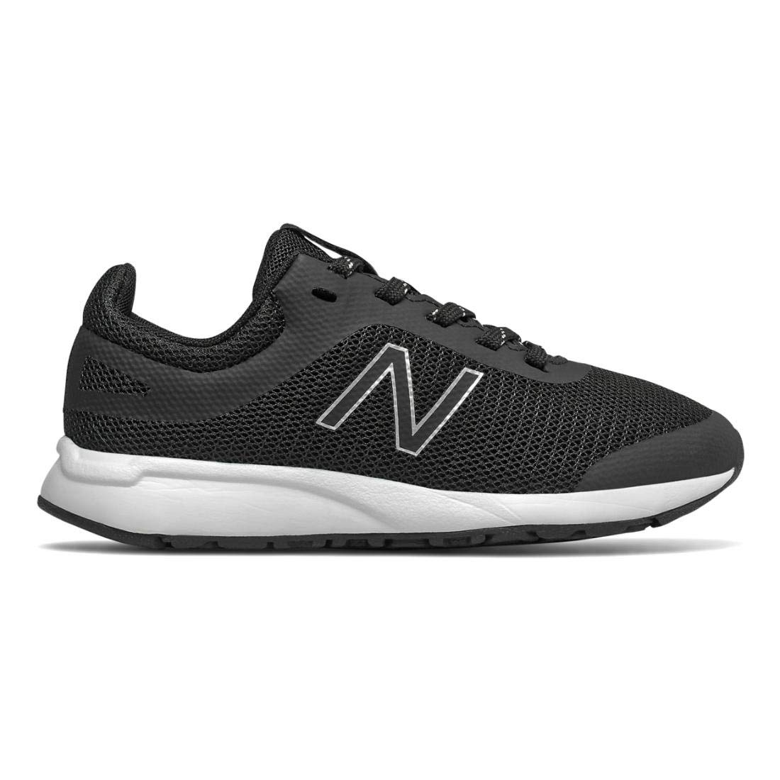 New Balance Boys' 455v2 Running Shoe, Black/White, 4.5 M US Big Kid