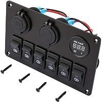 B Baosity 2pcs Push Switch Blue LED Driving Light For Toyota Landcruiser 79//100 Series