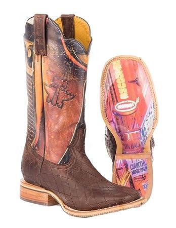 af72318a6aa Amazon.com : Tin Haul Mens Holler/Swaller Nashville Boot : Shoes