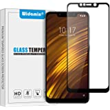 Widamin Screen Protector Compatible with POCOPHONE F1, Full coverage Premium Tempered Glass, 9H Hardness, Crystal Clearity, Scratch Resistant, No Bubble, For Xiaomi POCOPHONE F1