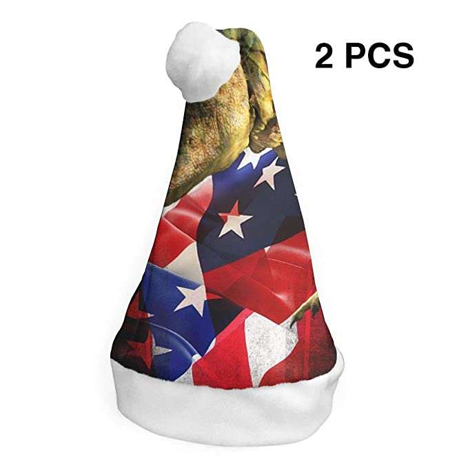 7f2b6aaf971f6 Amazon.com  Game Life Big Mouth Dragon (2 Pack) Christmas Hat Christmas  Santa Hats  Clothing
