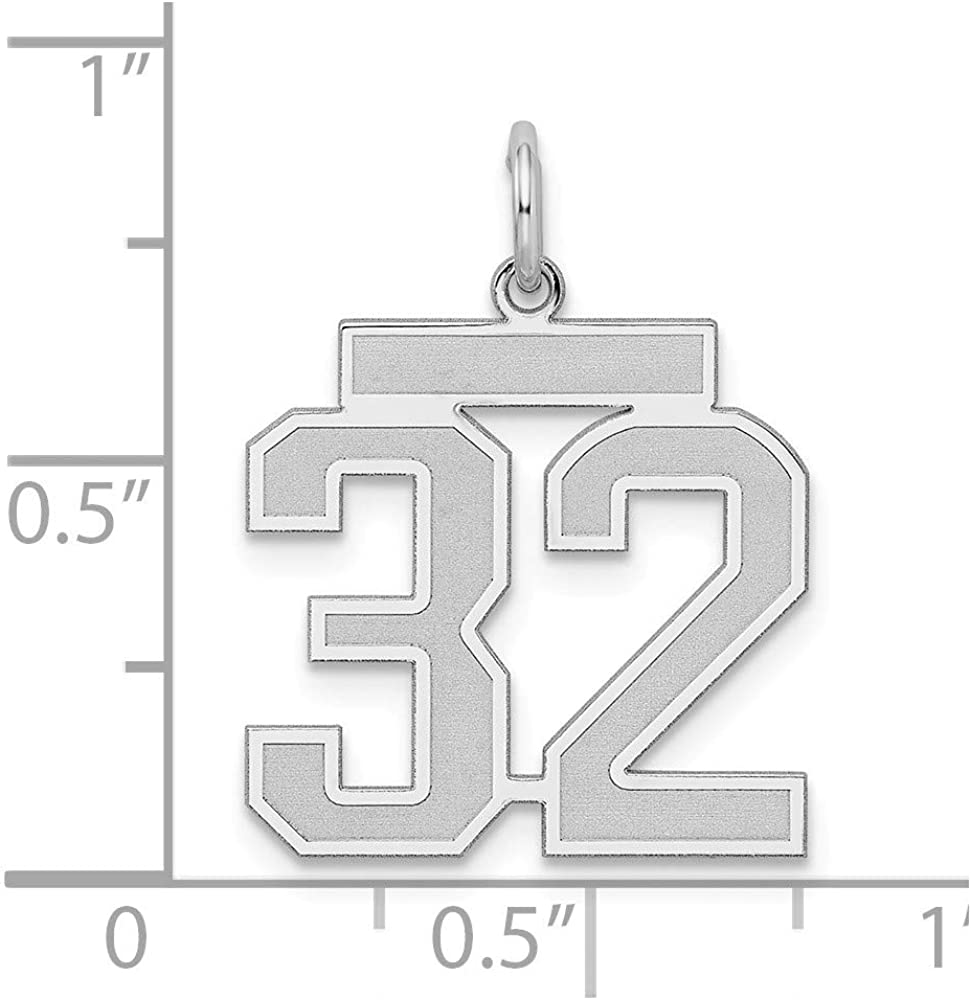 925 Sterling Silver Medium Number 10 Pendant Charm Necklace Sport Laser Etched Fine Jewelry Gifts For Women For Her