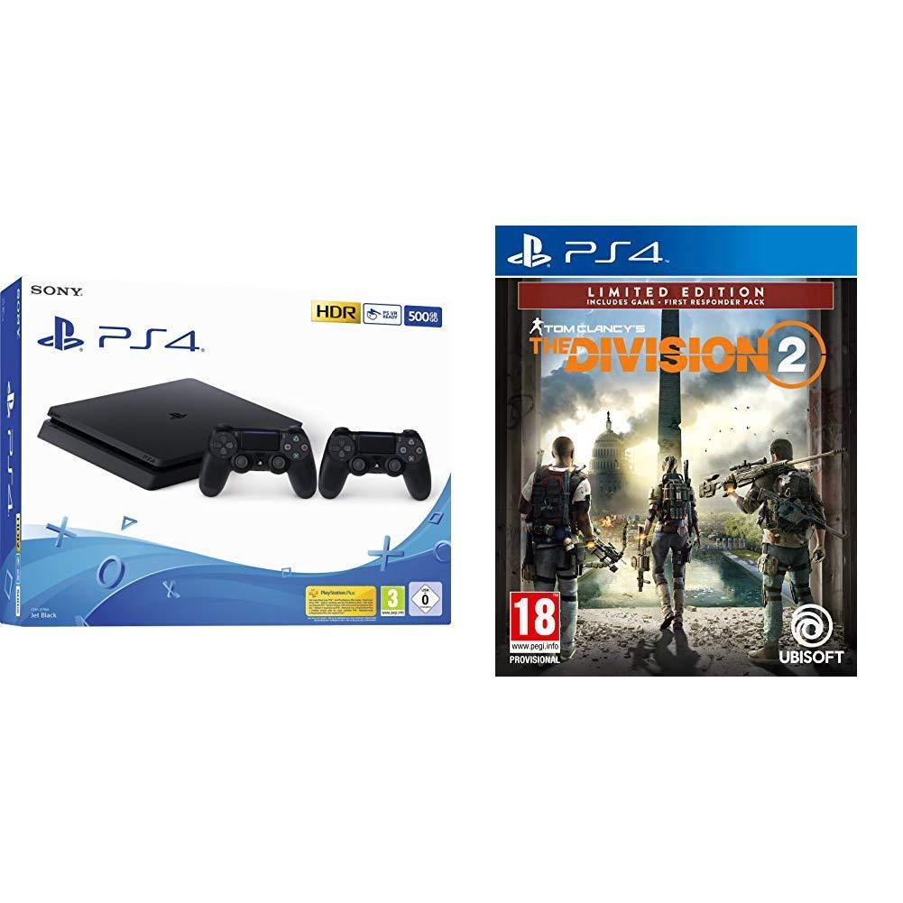 Playstation 4 (PS4) - Consola 500 Gb + 2 Mandos Dual Shock 4 ...