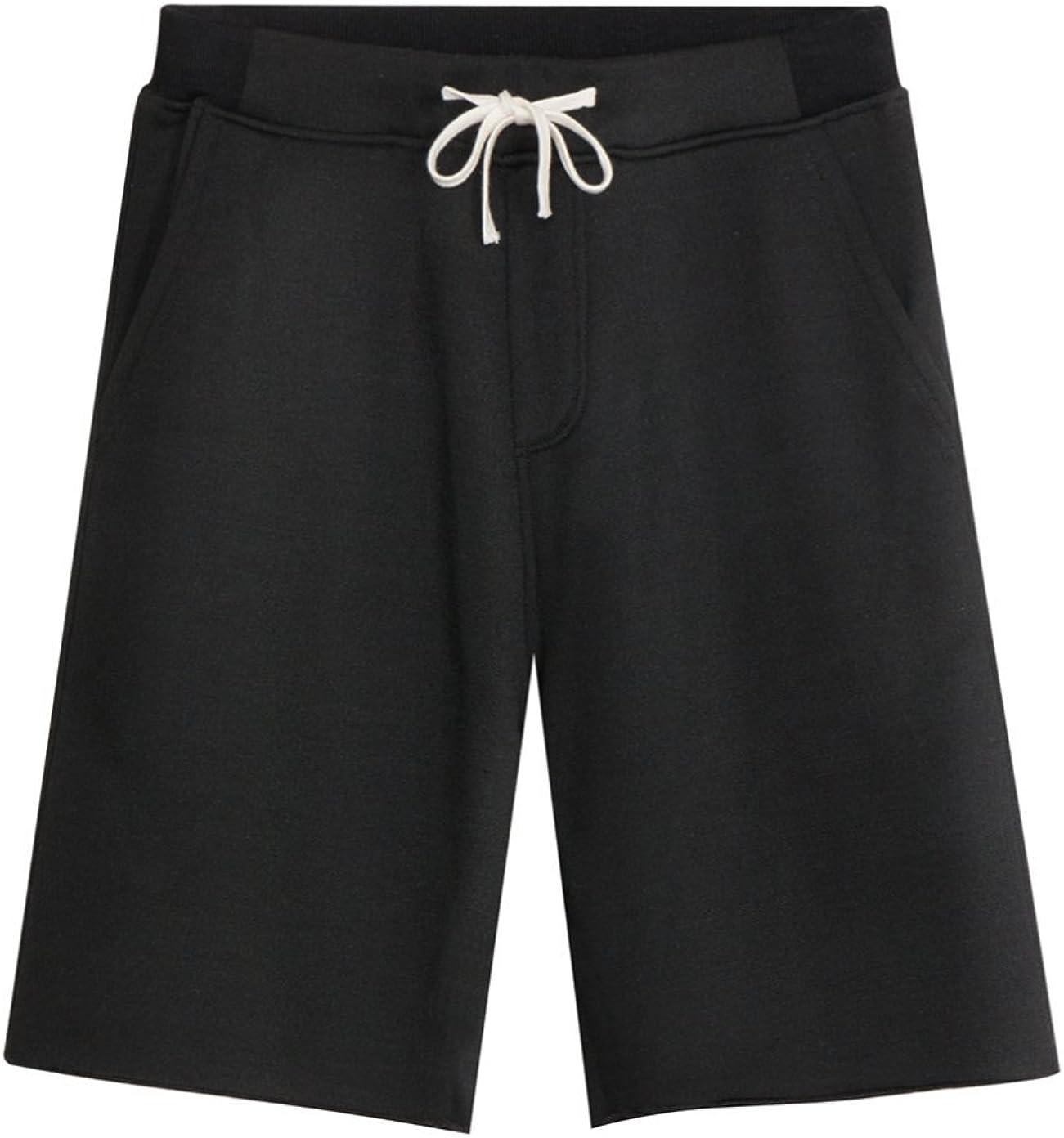 KEYBUR Men's Casual Classic Fit Cotton Elastic Jogger Gym Lightweight Comfort Shorts