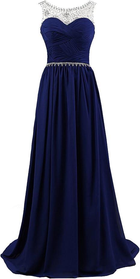 Vantexi Damen EIN-Schulter Chiffon Lange Formale Abendkleid Prom Ballkleider